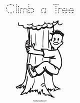 Coloring Climb Tree Climbing Tracing Login Favorites Boy sketch template