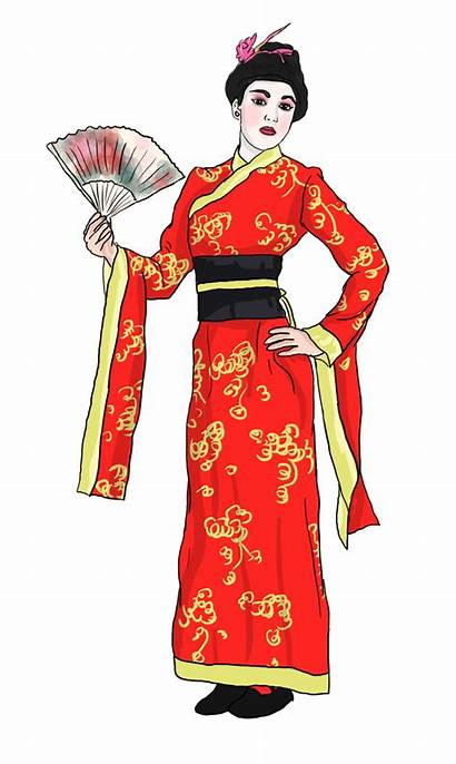 Clipart Traditional Geisha Japanese Clip Cliparts Tradition