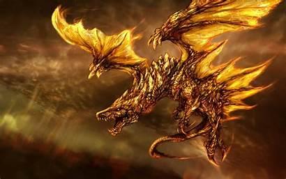 Wings Fire Dragon Fantasy Background Wallpapersafari