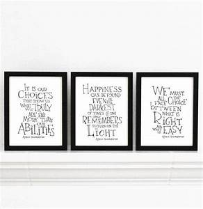 Harry Potter pr... Wall Typography Quotes