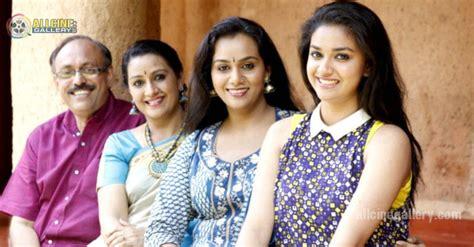 tamil actress keerthi suresh mother photos keerthi suresh family photos images stills pics gallery