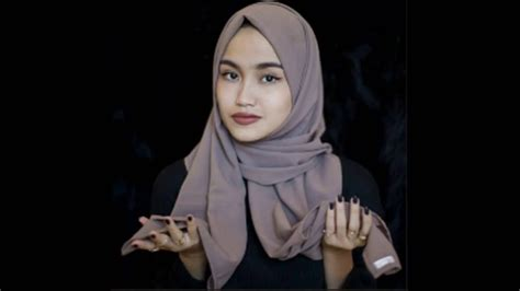 tutorial  memakai hijab  jilbab pashmina simple sederhana youtube