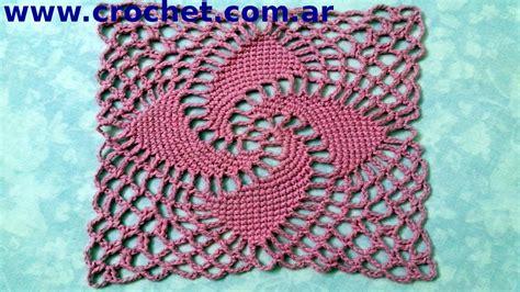 motivo n 176 8 granny square en tejido crochet o ganchillo tutorial paso a paso moda a crochet