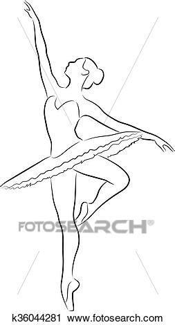 Clipart - dançar, bailarina k36044281 - Busca de