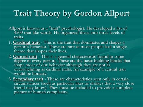 Gordon Allport Trait Theory Pdf Download