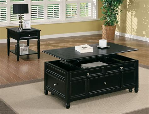 This product belongs to home , and you can find similar products at all categories. Black Coffee Table Lift Up Top : Black Wood Finish Lift Top Coffee Table With Bottom Storage ...