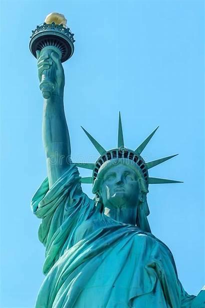 Liberty Statue Island Close Lady