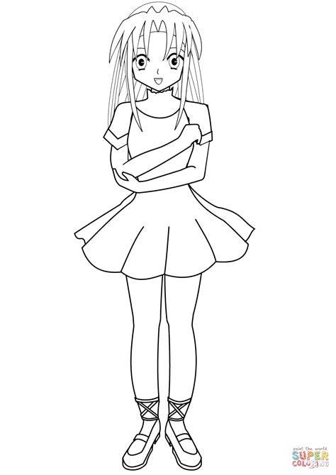anime ballerina coloring page free printable coloring pages