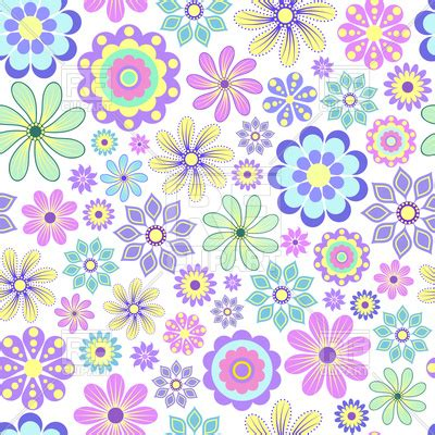 pastel flowers  white background vector image
