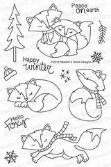 Fox Hollow Designs Nook Coloring Stamps Newton Stamp Embroidery Weather Simonsaysstamp Clear Patterns раскраски Pages Dibujos Reveal Newtonsnookdesigns Release Holiday sketch template