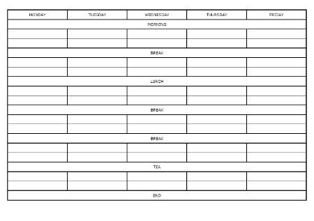 Blank Revision Timetable Template by How To Make A Revision Timetable Mrreid Org