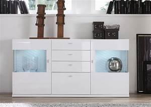Sideboard Hängend Weiß Hochglanz : genial sideboard hochglanz wei g nstig highboard wei ~ Watch28wear.com Haus und Dekorationen