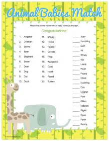 Baby Animal Match Game Answers