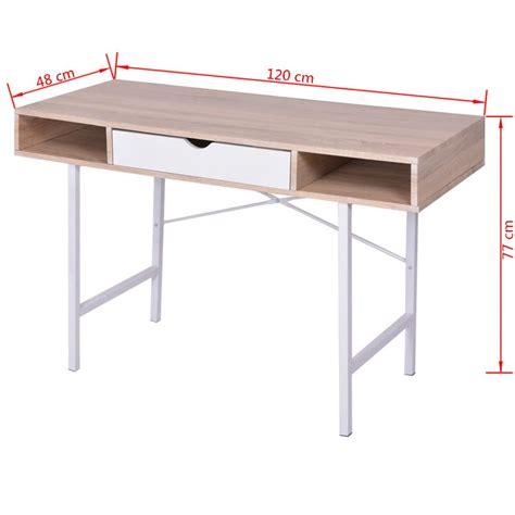 bureau travail a vendre vidaxl bureau avec 1 tiroir chêne et blanc table d