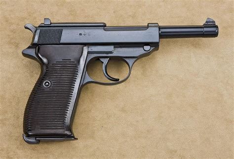 p semi automatic pistol  walther coded ac  mm