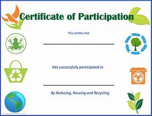 eco kids earth day certificates earth day activities With certificate of recycling template
