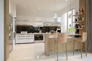 Interior designs filled with texture for Open kitchen interior design ideas