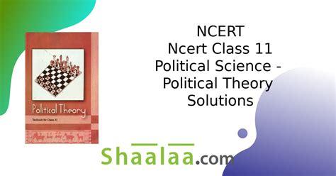 ncert solutions  ncert class  political science