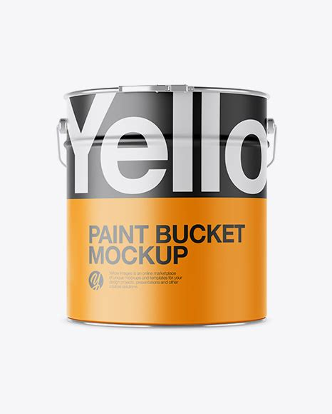 Apple imac mockup, macbook mockup, iphone mockup, ipad, billboards & signs, branding, print, fashion metal paint buckets free mockups to showcase branding packaging. Download Psd Mockup Aluminium Bucket Front View Hanger ...