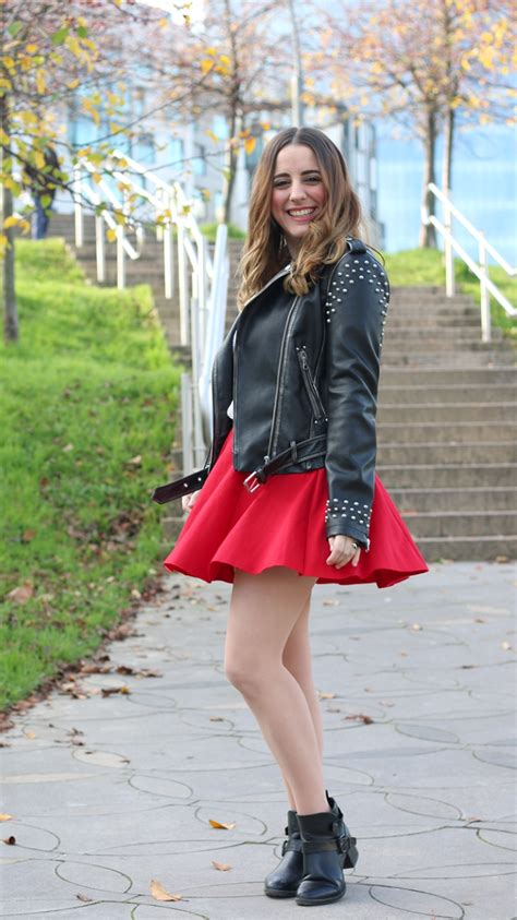 With my new leather biker   As first seen on blog  Me