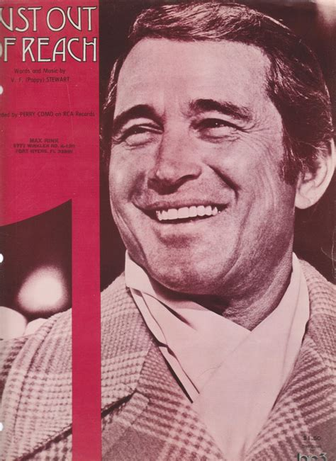 perry como real name perry como sheet music to his 1975 hit quot just out of