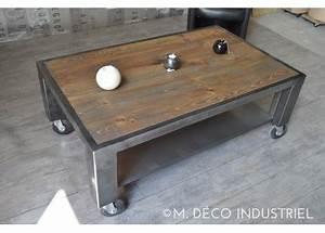 Table Salon Industriel : table basse industrielle vacances arts guides voyages ~ Melissatoandfro.com Idées de Décoration