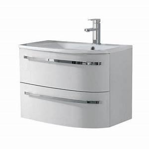 Meuble Sous Vasque 70 Cm : meuble sous vasque elbe blanc droit 70 cm castorama ~ Teatrodelosmanantiales.com Idées de Décoration