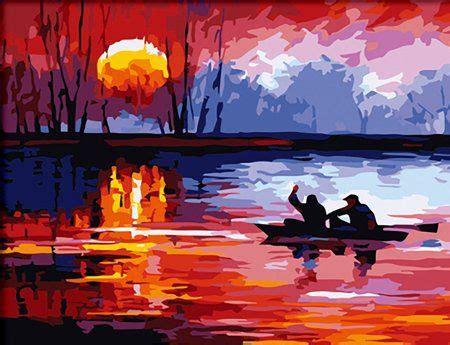 amazoncom diyoilpaintings paint  number kit sunset