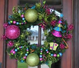 hot pink and lime green christmas tree by anotherspecialoccasi