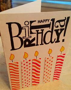 Easy, homemade birthday card. | Cool birthday cards ...