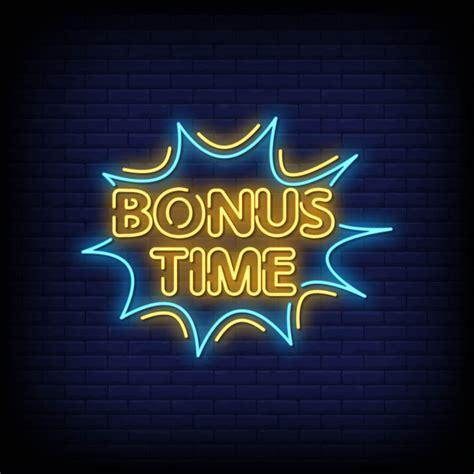 Premium Vector | Bonus time neon signs style text vector