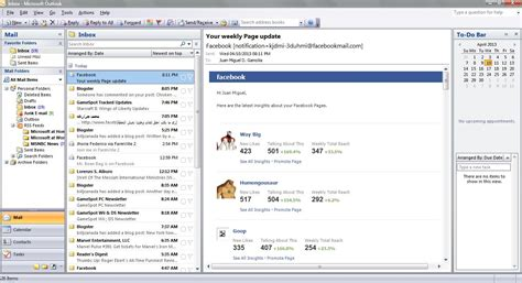 Microsoft Office Outlook by Screenshot For Microsoft Outlook 2007 For Windows Vista