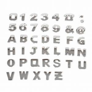 40x 3d diy metallic alphabet number stickers car emblem With metallic letter stickers