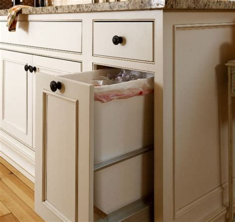 kitchen island trash bin kitchen pull out trash bins both functional and aesthetical