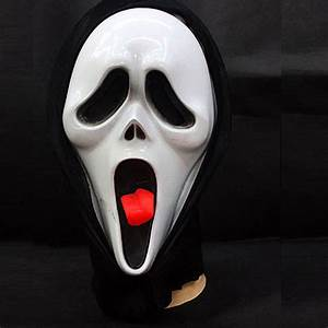 Scary Movie Ghost Face With Tongue Spoof Scream Mask For ...