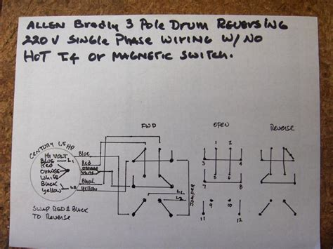 wire   drum switch  single phase