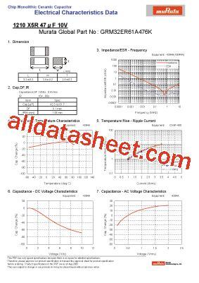 Grm32er61a476k Datasheet(pdf)  Murata Manufacturing Co, Ltd