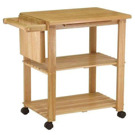 kitchen utility cart utility butcher block kitchen cart in finish 89933