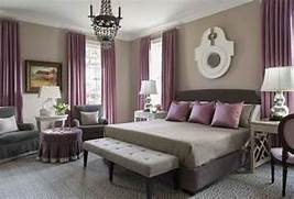 Bedroom Colors Grey Purple by Purple And Gray Bedroom With Mismatched Nighstands Contemporary Bedroom