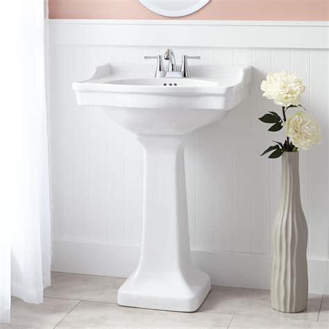 cierra porcelain pedestal sink bathroom sinks bathroom