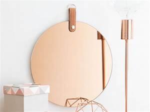 Miroir Rond Cuivre : le miroir teint nouvel incontournable joli place ~ Edinachiropracticcenter.com Idées de Décoration