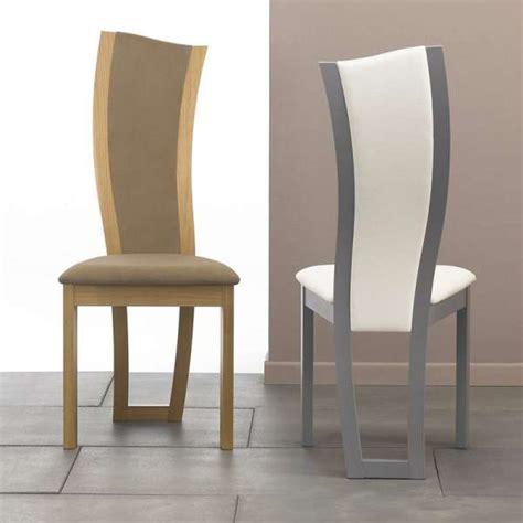 chaise de salle a manger contemporaine chaise de salle à manger contemporaine en tissu et bois