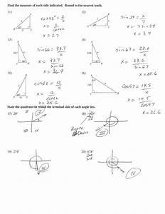Trig Word Problems Worksheet Answers Trigonometry