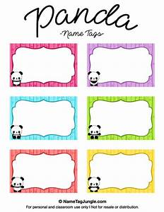 Free Printable Panda Name Tags  The Template Can Also Be Used For Creating Items Like Labels And