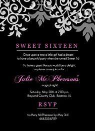 16th Birthday Party Invitation Wording