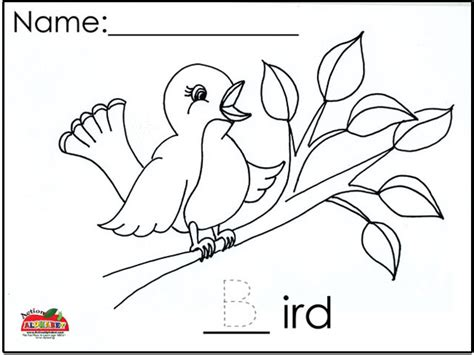 letter b activities preschool lesson plans 169 | B Bird Coloring Page 1