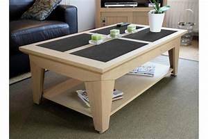 Table De Salon Moderne : table basse de salon moderne en bois massif fabric hellin ~ Preciouscoupons.com Idées de Décoration