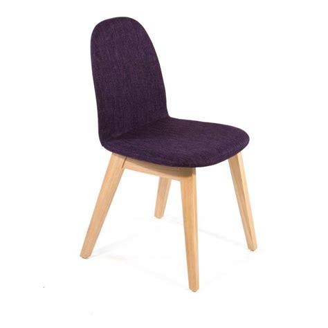 4 pieds chaise chaise scandinave en bois et tissu puccini mobitec 4