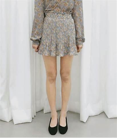 Skirt Pleated Floral Romantic Waistband Mixxmix Mini