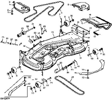 diagram to install belt on john deere 54 quot deck mower